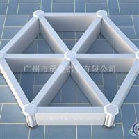 三角铝格栅