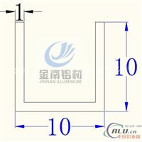 供应铝合金槽铝型材10x10x1mm