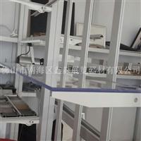 展位铝合边亚克力层板八棱柱专用