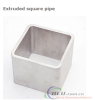 Extruded square pipe