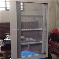 可拆卸隐形回卷纱窗带防护网