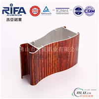 PU喷涂红木纹平开门铝型材