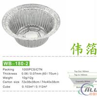 WB1802煲仔饭铝箔碗 外卖打包快餐碗