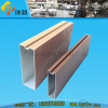 U shape aluminum baffle ceiling for balcony