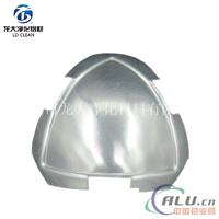 银白63顶球彩钢板净化铝材三通配件银白阴角