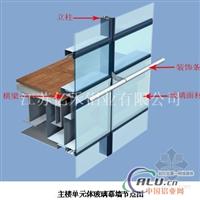 隔热断桥幕墙铝型材