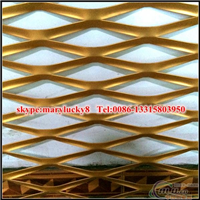 3mm厚焊框外墙装饰铝板网