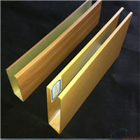 u型木纹铝方通吊顶施工方法