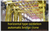horizontal type oxidation automatic bridge crane