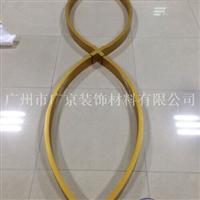 拉弯外型铝方通,型材木纹四方管