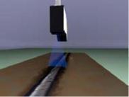 工业焊接跟进专项使用激光扫描传感器