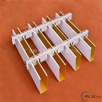 白色铝方通格栅吊顶安装方法