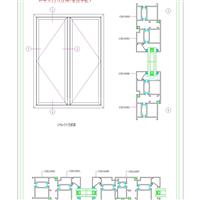 GM63A隔热平开门(穿条)2