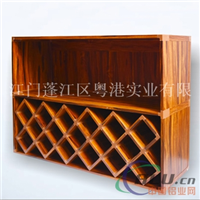 铝合金酒柜型材 全铝酒架铝材批发