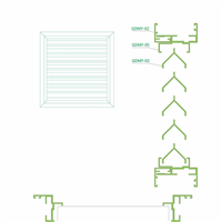 百叶窗系列结构图