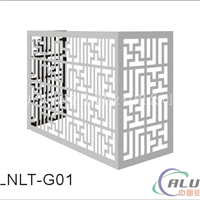 铝合金空调罩厂家 雕花空调外机保护罩价格
