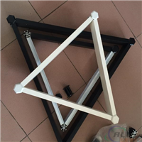 三角形铝格栅风口 六角型平面铝格栅