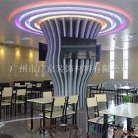造型柱子装饰铝板 弧形雕刻铝方通 铝方通