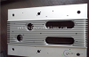 Silver anodized aluminium extrusions with CNC milling