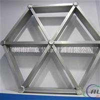 型材三角型铝格栅、正方形铝格栅现货直销