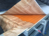 aluminum panel wood finish machine