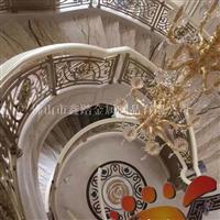 艺术雕刻铝板旋转楼梯护栏