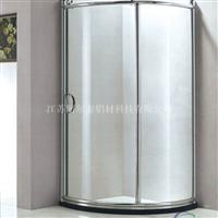 优质淋浴房铝型材批发 热销冲凉房隔断铝材