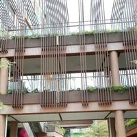 墙身烤漆铝方管-异形拉弯铝方通