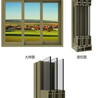 GL96铝合金隔热断桥推拉窗