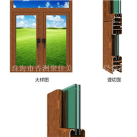 p52系列隔热平开窗铝材批发