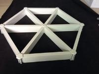 铝格栅天花 木纹铝格栅 白色铝格栅