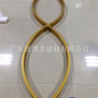热转印木纹铝方通吊顶 弯曲造型铝方通