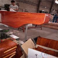 厂家定制优良真空木纹热转印铝合金葡萄架