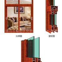 52平开窗铝材隔热80铝合金门窗型材