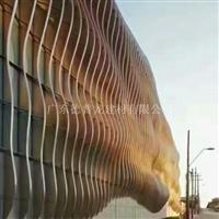 外立面弧形铝方通墙面方通如何安装幕墙铝板