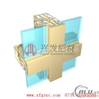 广东兴发铝材断桥隔热幕墙铝型材