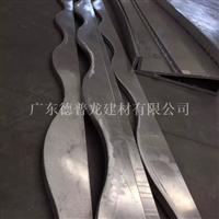 广告牌门头造型铝方通 弧形铝方通