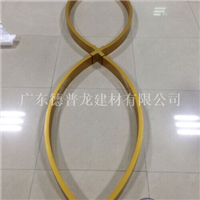 S形拉彎鋁方管 弧形鋁方通 造型鋁板