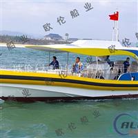 12.5米旅游观光艇铝合金小型快艇