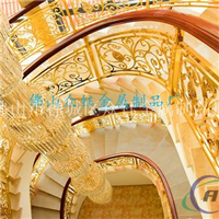 家居装饰楼梯护栏供应商 铝艺雕刻护栏