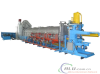 Single log furnace with hot shear
