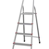 供应铝合金梯子-四阶踏步铝合金家用梯