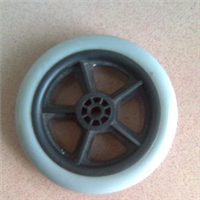供应助行器5寸PVC小轮(塑料轮毂+