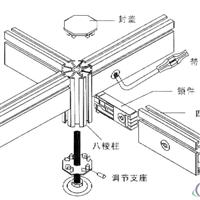 50四槽横梁展位标摊专用横条八棱柱.0