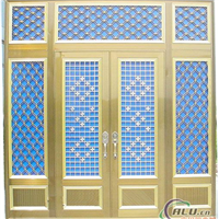 供应铝合金建筑门窗型材 方管圆管花边