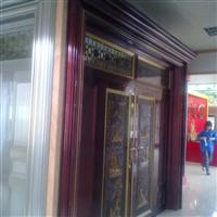 紫铜色豪华艺术大门铝型材