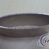 供應鋁擠加工橢圓扁形鋁管型材