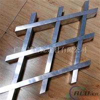 环保条形铝格栅仿木纹网格餐厅天花厂家