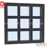 Q1403铝合金隐框玻璃幕墙型材