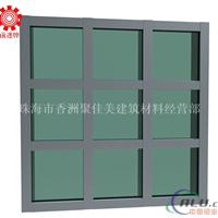 Q1401系列铝合金明框玻璃幕墙铝材